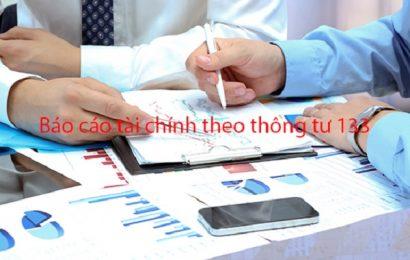 Hướng dẫn cách lập Báo cáo tài chính theo Thông tư 133