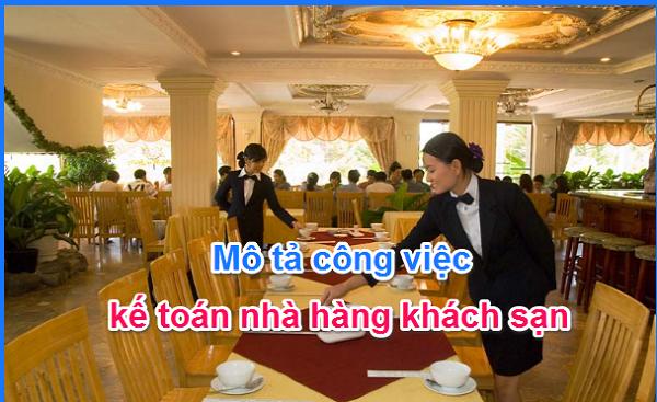 công việc kế toán nhà hàng khách sạn