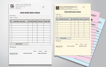 Các loại hóa đơn hiện hành