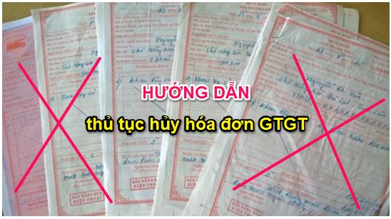 Quy định hủy hóa đơn GTGT theo thông tư 39
