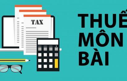 Các trường hợp được miễn thuế môn bài