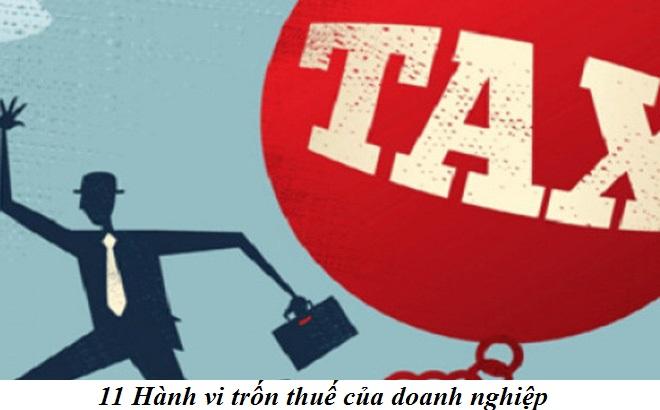 11 hành vi trốn thuế của doanh nghiệp
