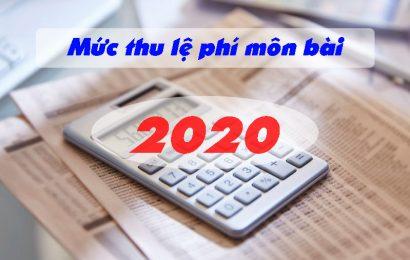 Mức thu lệ phí môn bài mới nhất 2020