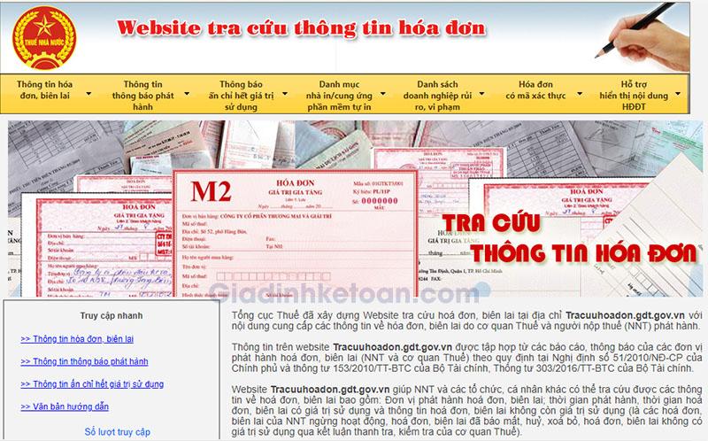 Hướng dẫn tra cứu thông tin hóa đơn