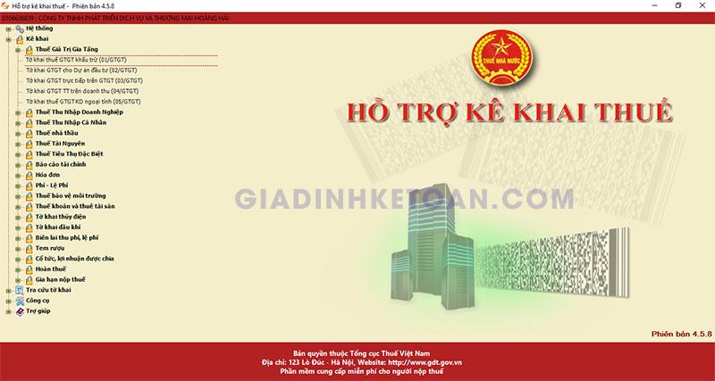 Cách lập tờ khai thuế GTGT trên HTKK